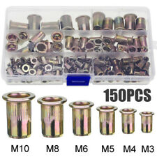 10Pk M3//M4//M5//M6//M8//M10//M12 à 4 broches Tee T Écrou Meubles insère volets ID476