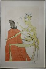 """Salvador Dali - """"The Divine Back of Gala"""" Etching - L/E Hand Signed by Artist"""