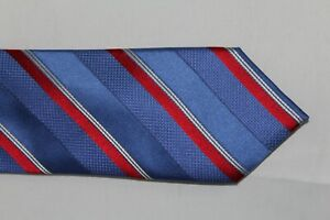 CANALI 1934 Red White and Blue 100% Silk Made in Italy Tie