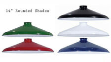 "Porcelain Enamel Shade: 14"" Rounded Metal Shade, 2.25"" fitter for Pendant Lights"