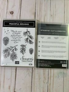 Stampin' Up! RETIRED HTF! Peaceful Boughs Bundle