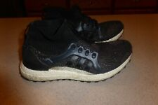 adidas Ultraboost Core Black Textile Synthetic Sneakers Women's Shoes Sparkle 8M