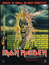 IRON MAIDEN - Rock 'N' Roll Is Not Pretty__Original 1980 Trade Print AD / poster