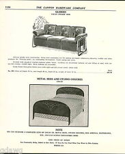 1939 ADVERT Logan Pillow Arm Porch Glider Furniture Tops Metal Outdoor Chair