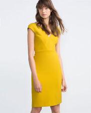 Zara Viscose Knee Length Stretch, Bodycon Dresses for Women