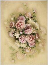 Printed Translucent / Vellum Scrapbook  Paper A/4 - Rose Bouquet