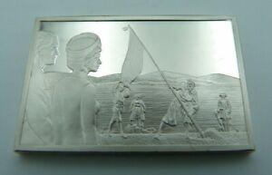 925 Solid Silver Ingot - 'Royal Tour Australia New Zealand' - Captain Cook 1970