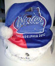 NHL HOCKEY WINTER CLASSIC 2012 RANGERS FLYERS SANTA HAT ~ NEW
