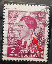"YUGOSLAVIA - KING PETAR II 1939 MI: 397 USED WITH TYPICAL ERROR "" EARING """