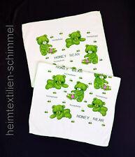 Badetuch Duschtuch Strandtuch Handtuch Kinder Baby Saunatuch Bärchen grün 55x110