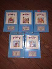 1984 W.O.W Talking Mother Goose Book & Cassette Tape Sets In Original Sealed Box