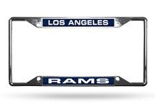 Los Angeles Rams EZ View Laser Cut Chrome Metal License Plate Frame
