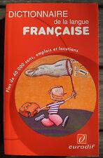 LIVRE DICTIONNAIRE DE LA LANGUE FRANÇAISE format poche !!