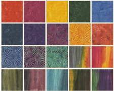 SUNDRENCHED (40) 2.5 INCH Jelly Roll 100% Cotton Quilting Fabric Benartex