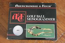 Vintage Abercrombie & Fitch Golf Ball Monogrammer Made in England Original Box