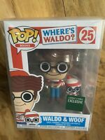 Funko Pop! Where's Waldo And Woof New Protector Rare Vaulted Comics Barnes Noble
