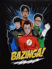 The Big Bang Theory DC Comic T-Shirt Size Small With Bazanga Magnet
