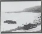 MODEL T AT WAIMEA BAY HALEIWA 1915? HAND PRINTED SILVER HALIDE PHOTO ON 8X10 MAT