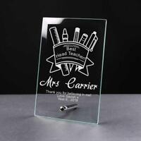 Personalised Best Head Teacher Thank You Gift Glass Plaque GP40