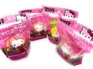 Brand New Cute Phone Backpack Charm Hello Kitty Squishy Fruits and Veggies