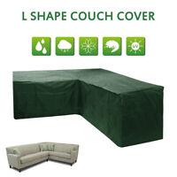 L Shape Waterproof Outdoor Corner Sofa Rattan Patio Furniture Cover Garden AU