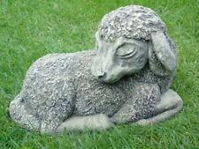 statue d un mouton coucher en pierre pat  ... super prix !