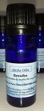 Breathe Essential Oil Blend 10ml Undiluted 100% Pure Oil Burner Inhale Massage