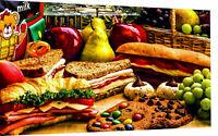 Leinwand Bilder Essen Snacks Deko Küchen Wandbilder - Hochwertiger Kunstdruck