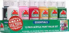 SALE - Apple Barrel 12 Pack Matte Finish Multi Color Acrylic Paint Value Set NEW
