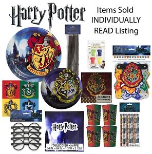 HARRY POTTER Birthday Party Plates Napkins Cups Banner Favors Tablecover