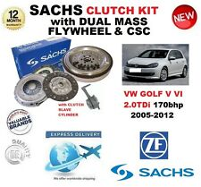 FOR VW GOLF V VI 2.0 TDi SACHS CLUTCH KIT 2005-2012 with FLYWHEEL BOLTS CSC