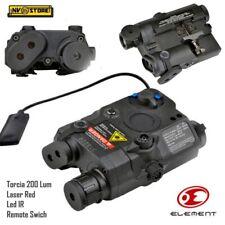 AN-PEQ Element Torcia Led + Puntatore Laser Red + Led IR + Comando Remoto Black