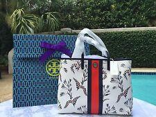 TORY BURCH KERRINGTON STRIPE SQUARE TOTE CAPE FLORAL NWT $295+GIFT BAG