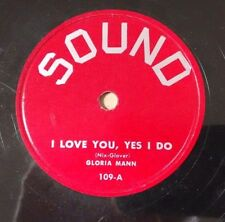 GLORIA MANN ON SOUND 109 - EARTH ANGEL - Sound 78 TEEN V-/E