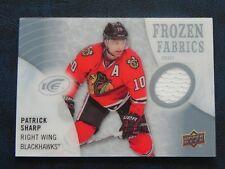 2014-15 14/15 UD Ice Frozen Fabrics Patrick Sharp Chicago Blackhawks White