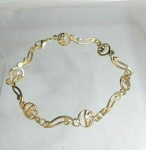 9ct gold Rennie Mackintosh style Bracelet (real gold not filled or plated)