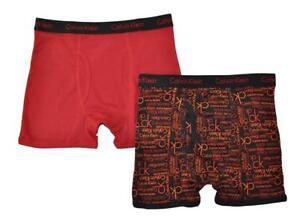 Calvin Klein Boys Blac/Orange 2 Pack Boxer Briefs Size 4/5 6/7 8/10 12/14 16/18