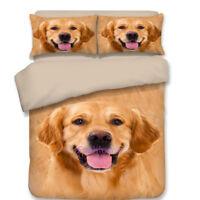 Golden Retriever Single/Queen/King Bed Quilt/Doona/Duvet Cover Set Pillow Cases