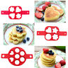 Nonstick Pancake Maker Mould Silicone Omelette Egg Ring Mold Tool Tackle Kitchen