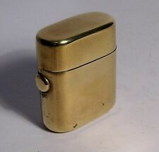 VINTAGE BRASS TRAVELLING INKWELL - LOVELY
