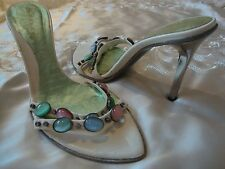 DIBRERA BY PAOLO ZANOLI  MULTI COLOR STONES  SANDAL SIZE 39 EU OR 8.5 US