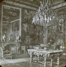 Reception Room Pope Pius VII, Palace of Fontainebleau, Magic Lantern Glass Slide