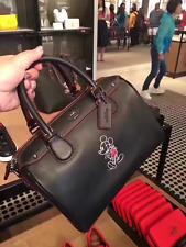 NWT Coach DISNEY X Mickey BLACK Mini Bennett Satchel Leather Bag F59371- New$395
