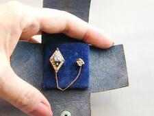 10k Gold Kappa Nu Fraternity Pin Seed Pearl Amethyst Zeta Chapter Guard