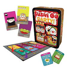 Sushi Go Party! Family Card Game Deluxe Pick & Pass Gamewright Tin Box GWI 419