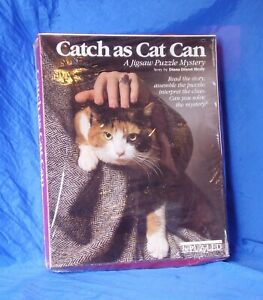 Catch As Catch Can Jigsaw Puzzle Mystery Diana Dixon Healy Story/Puzzle Combo