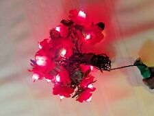 Vintage Red Plastic Poinsettia Flower Christmas Lights String Covers Work Great!