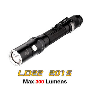 Fenix LD22 2015 Cree XP-G2 R5 LED 300 Lumens AA Side Switch Flashlight Torch