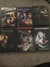 Lot Of 6 Horror DVD Movies (Annabelle, Halloween H2O, Hannibal, Etc)