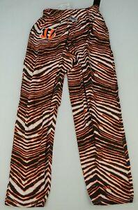 Cincinnati Bengals NFL Zubaz Men's Zebra Striped Pants